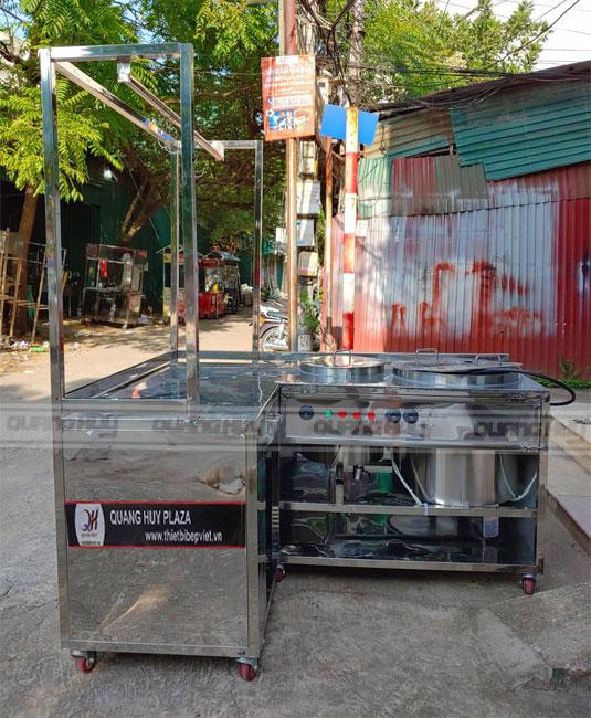 Xe hủ tiếu, tủ bán hủ tiếu gõ giá rẻ tại Quang Huy