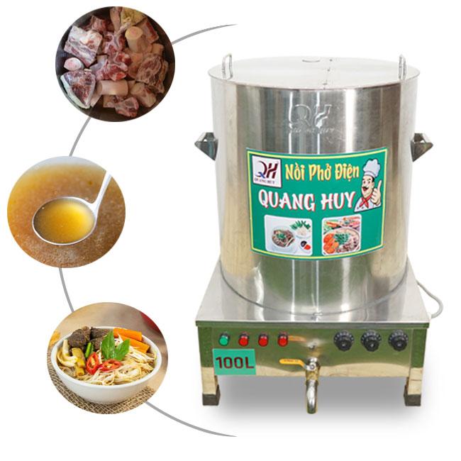 Nồi điện hầm xương nấu nước lèo phở Quang Huy