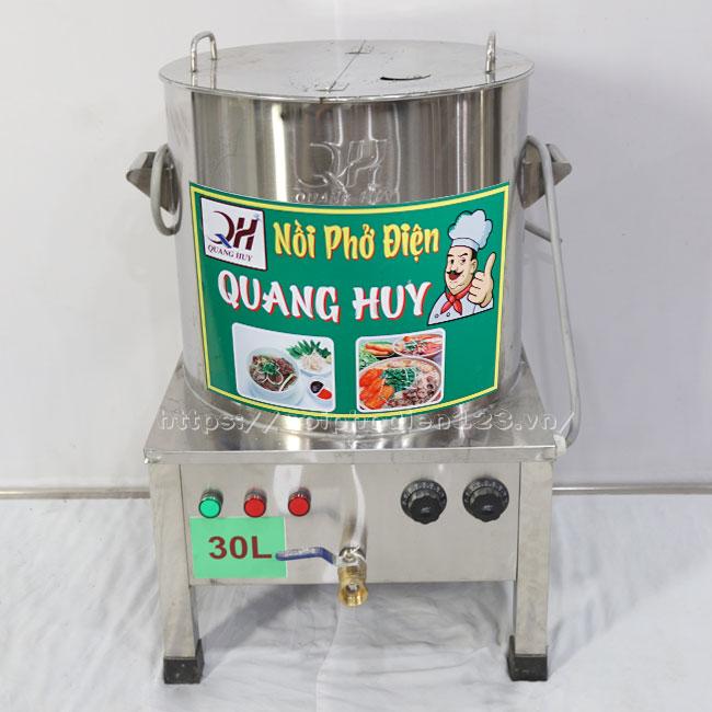 Nồi điện nấu nước lèo Inox 304 Quang Huy