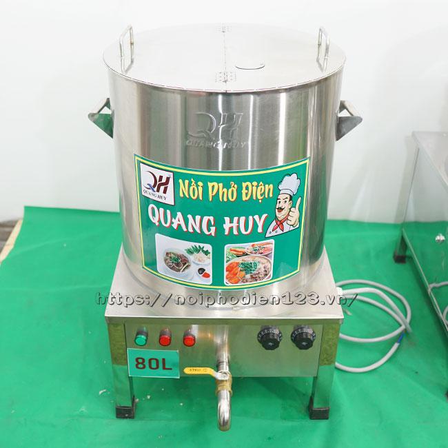 Nồi nấu nước dùng phở bằng điện 80 lít Quang Huiy