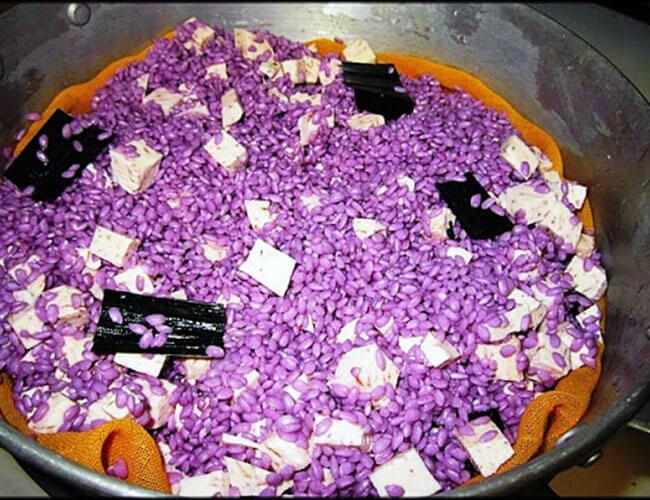 Cách nấu xôi lá cẩm khoai môn
