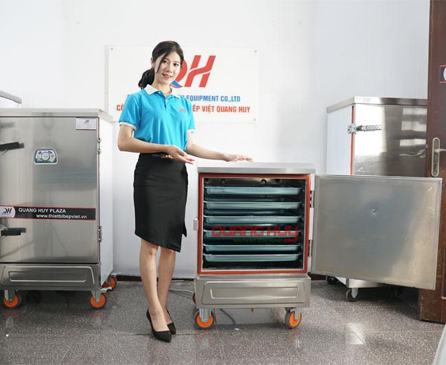 Tủ hấp cơm công nghiệp 6 khay giá rẻ tại Quang Huy