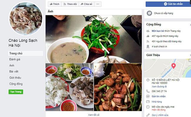 Quảng cáo quán cháo lòng trên mạng xã hội - Kinh nghiệm mở quán cháo lòng thời 4.0