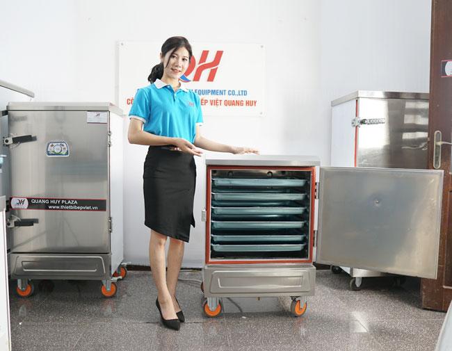 Quang Huy phân phối tủ hấp giò chả, tủ nấu cơm công nghiệp uy tín