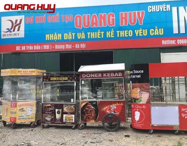 Quang Huy sản xuất và phân phối xe bán bánh mì bán xôi hàng đầu trên thị trường
