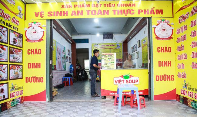 Quầy cháo dinh dưỡng lắp đặt tại các quán cháo, quán súp