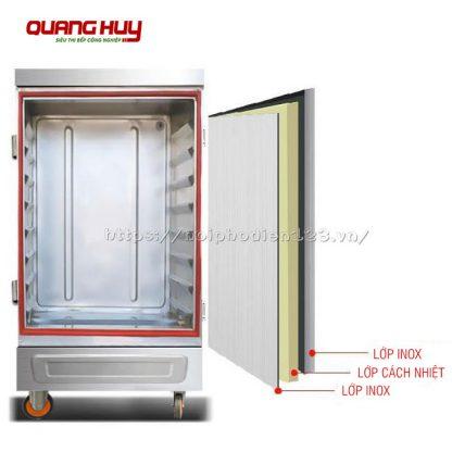 Thành tủ cơm thiết kế 3 lớp giữ nhiệt, chống nóng hiệu quả