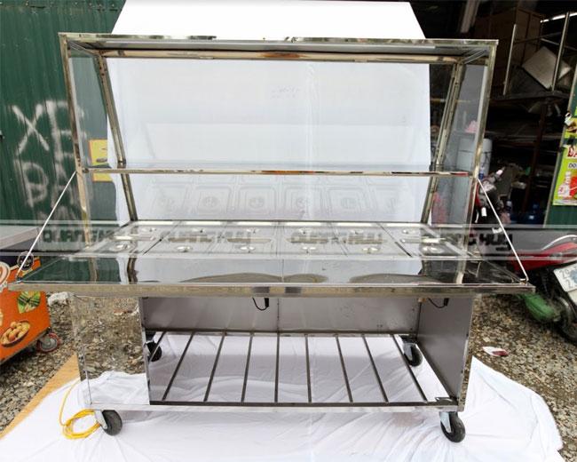Thiết kế tủ bán cơm Inox theo yêu cầu