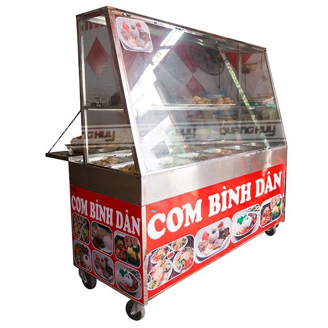 Quang Huy trực tiếp sản xuất và phân phối tủ bán cơm tấm, tủ cơm bình dân