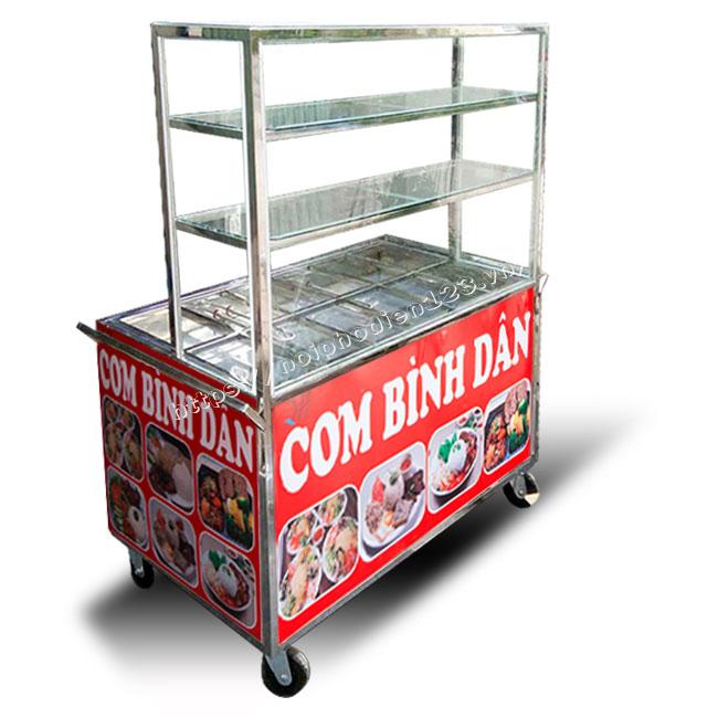 Đặt tủ bán cơm theo yêu cầu giá gốc tại xưởng cơ khí Quang Huy