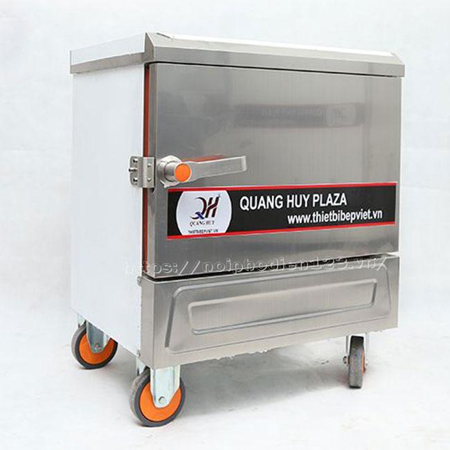 Tủ cơm công nghiệp loại nhỏ 4 khay điện Quang Huy