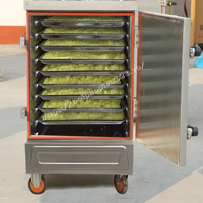Tủ điện hấp xôi 10 khay hấp tới 40kg gạo/ mẻ / 50 phút