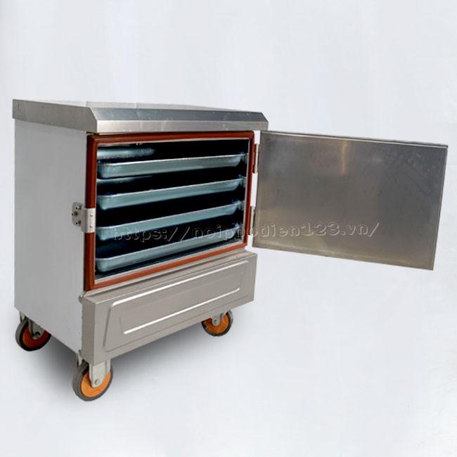Tủ điện nấu cơm công nghiệp mini 4 khay Quang Huy phân phối