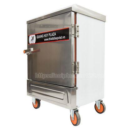 Tủ hấp cơm công nghiệp 6 khay đơn giản sử dụng