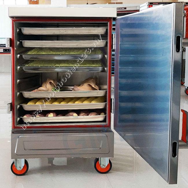 Tủ hấp công nghiệp 8 khay đa năng hấp xôi, nấu cơm, hấp gà vịt, ngô, khoai....