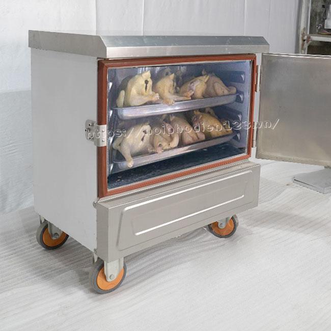 Tủ hấp gà vịt bằng điện mini 4 khay