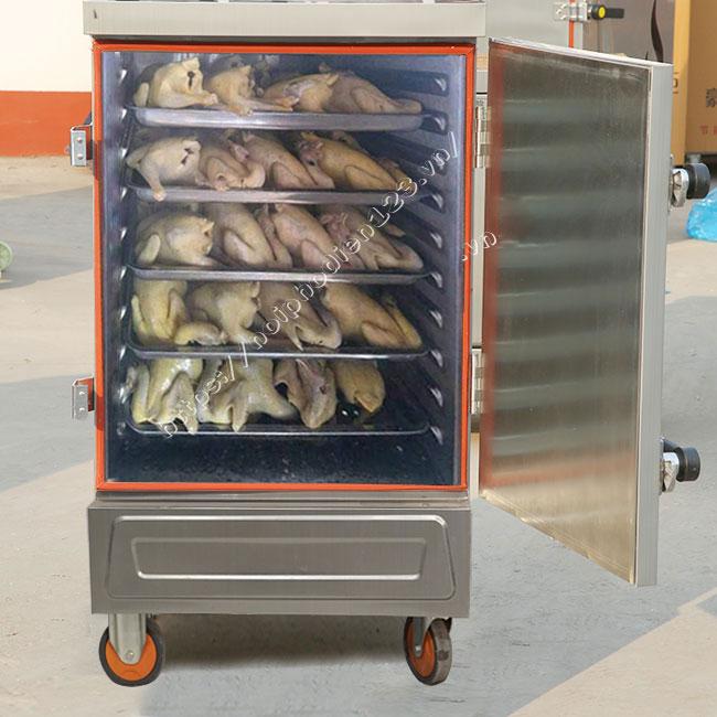 Tủ hấp gà vịt ngan bằng điện chuyên cho quán ăn bún phở, nhà hàng, bếp ăn,...