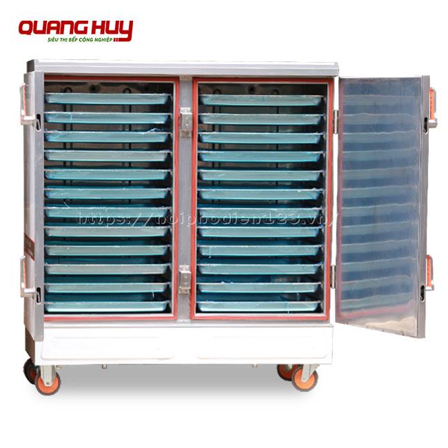 Tủ nấu cơm 24 khay bằng điện Quang Huy nấu hấp đa năng
