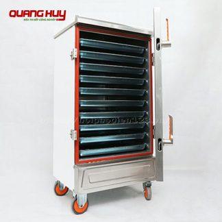 Tủ nấu cơm công nghiệp 10 khay bằng điện Quang Huy