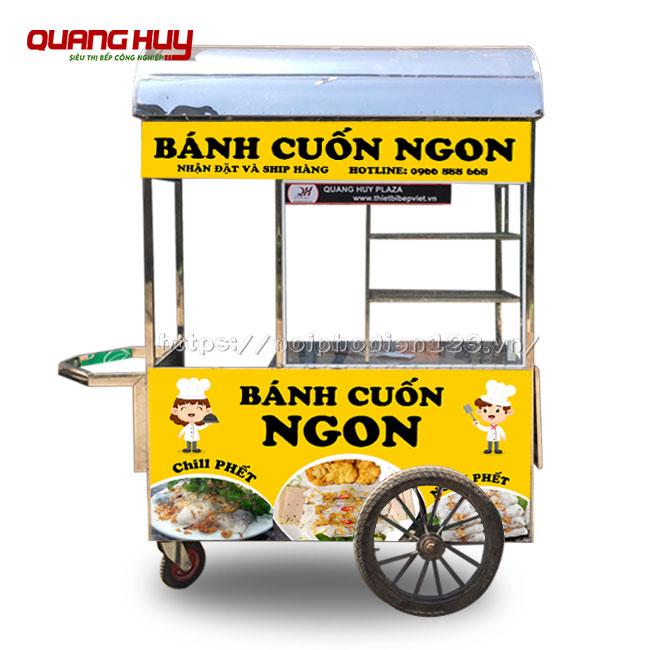 Xe bán bánh cuốn đẹp do Quang Huy sản xuất