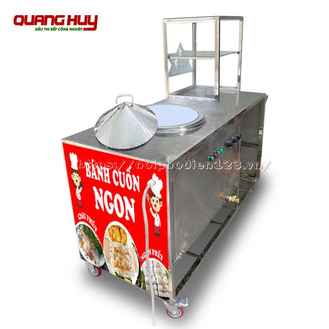 Xe đẩy bánh cuốn nồi điện Quang Huy