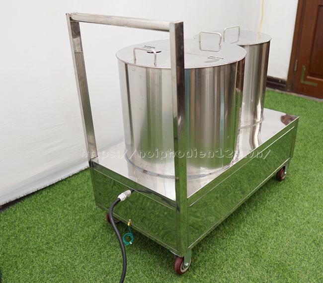 Bộ nồi nấu phở đôi INox 304 độ bền cao