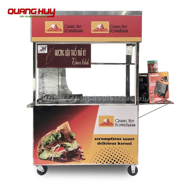 Trọn bộ xe bánh mì Thổ Nhĩ Kỳ: máy ép, gia vị ướp thịt, máy cắt thịt, lò nướng thịt