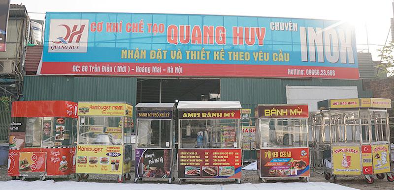Cơ sở sản xuất xe bánh mì Quang Huy
