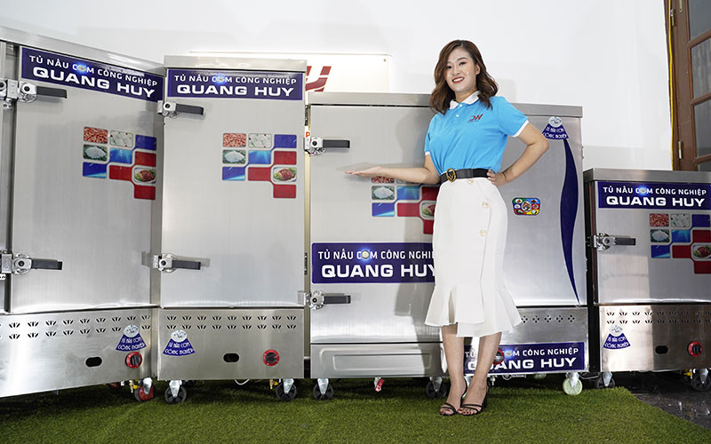 Mẫu tủ cơm công nghiệp Quang Huy phân phối từ loại 4,6,8,10,12,20,24 khay
