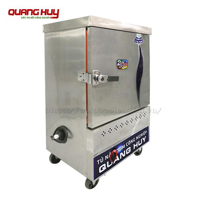 Mẫu tủ nấu cơm 6 khay bằng gas Quang Huy