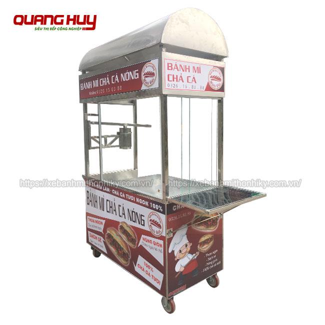 Mẫu xe bánh mì chả cá nóng Quang Huy, xe bánh mì chả cá, xe bán bánh mì chả cá, xe bánh mì chả cá nóng, bán xe bánh mì chả cá giá rẻ, xe bánh mì chả cá giá bao nhiêu, mua xe bán bánh mì chả cá cũ, xe bánh mì chả cá cũ