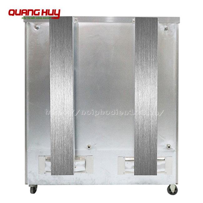 Ống xả khí tủ cơm công nghiệp 24 khay dùng gas