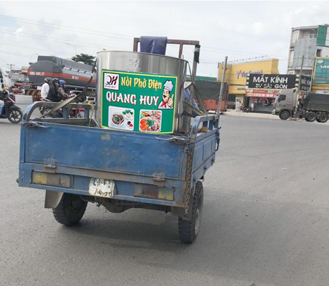 Quang Huy giao nồi phở, nồi cháo điện trên Toàn quốc