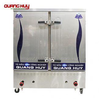 Tủ nấu cơm công nghiệp bằng gas 24 khay Quang Huy phân phối