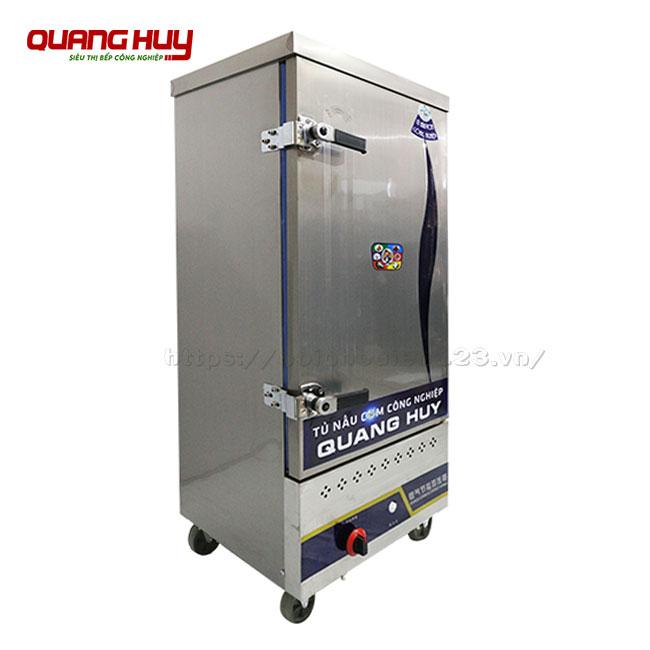 Tủ hấp cơm công nghiệp 10 khay bằng gas Quang Huy