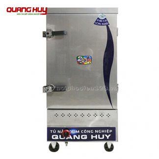 Tủ nấu cơm công nghiệp 10 khay bằng gas Quang Huy