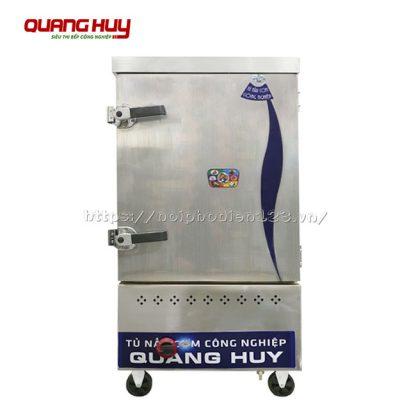 Tủ nấu cơm công nghiệp 8 khay bằng gas Quang Huy