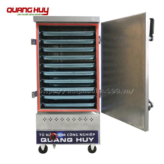 Tủ nấu cơm công nghiệp bằng gas với 10 khay nấu, hấp cơm, thực phẩm