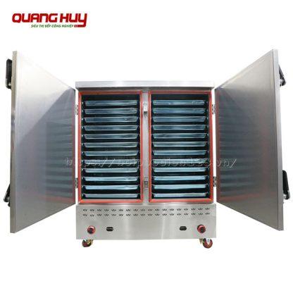 Tủ nấu cơm công nghiệp 24 khay bằng gas công suất lớn
