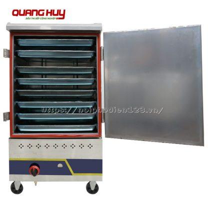 Tủ nấu cơm bằng gas 8 khay Quang Huy