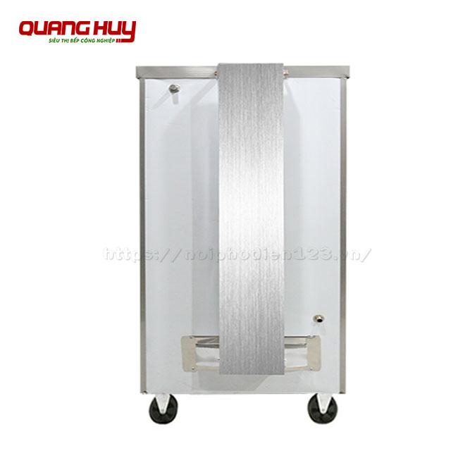Ống xả khí đặt phía sau tủ cơm công nghiệp gas 6 khay