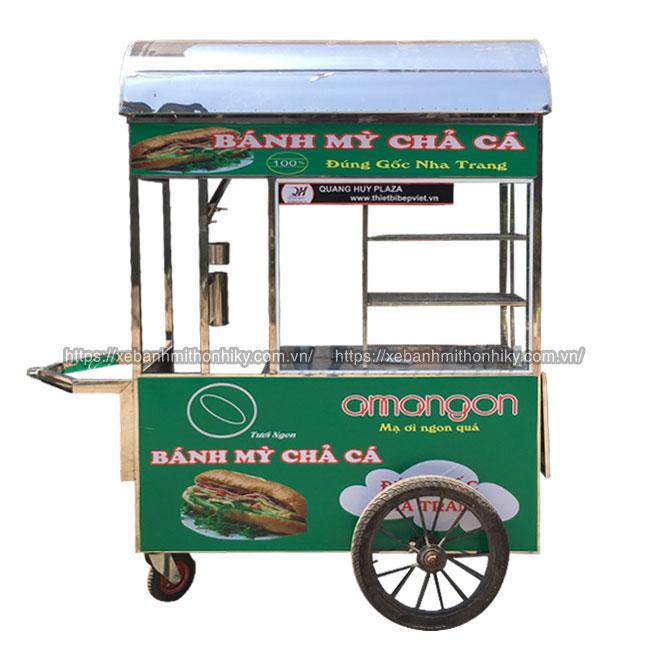 Xe đẩy bán bánh mì chả cá nóng Quang Huy, xe bánh mì chả cá, xe bán bánh mì chả cá, xe bánh mì chả cá nóng, bán xe bánh mì chả cá giá rẻ, xe bánh mì chả cá giá bao nhiêu, mua xe bán bánh mì chả cá cũ, xe bánh mì chả cá cũ