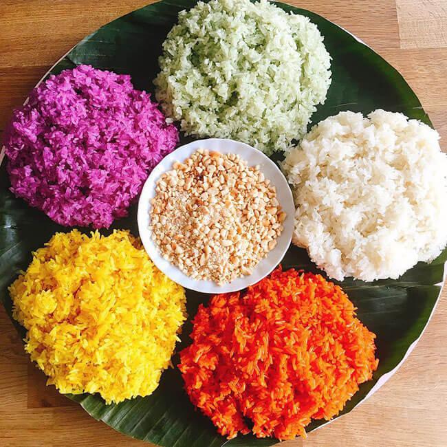 Xôi ngũ sắc - tinh hoa ẩm thực của người Tày