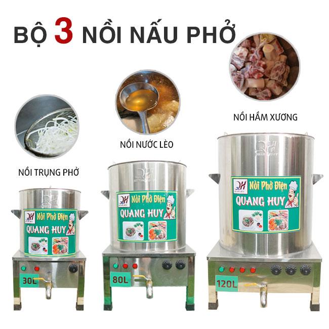 Bộ 3 nồi phở bằng điện Quang Huy