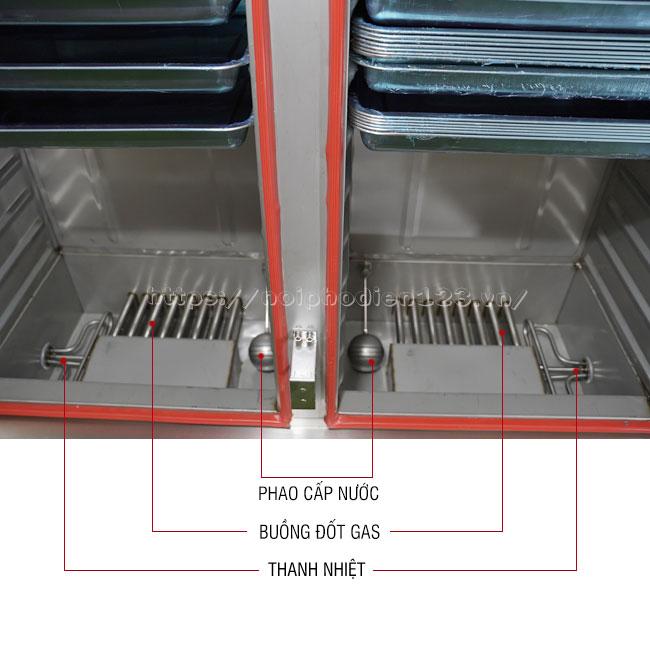 Khoang chứa nước tủ nấu cơm công nghiệp