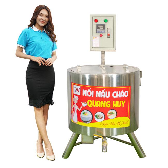 Mẫu thiết kế nồi nấu cháo công nghiệp Quang Huy