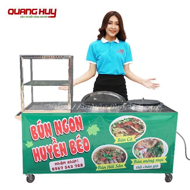 Mẫu tủ bún hải sản Quang Huy gia công sản xuất và phân phối