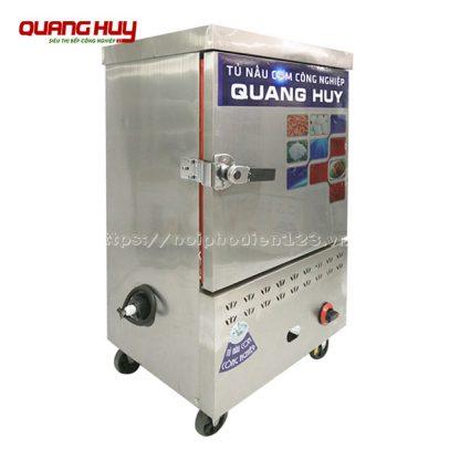 Mẫu tủ cơm công nghiệp 6 khay điện gas Quang Huy