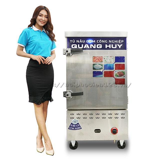Mẫu tủ hấp cơm công nghiệp, hấp thực phẩm đa năng 8 khay Quang Huy