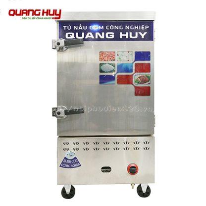 Mẫu tủ nấu cơm công nghiệp 8 khay băng điện gas
